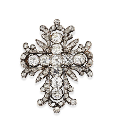 EARLY 19TH CENTURY DIAMOND PENDANT,
