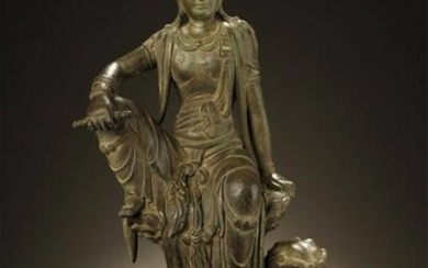 Early Stage, Alloy Copper Kuan Yin Statue