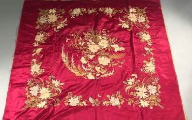 Embroidered hanging, Indochina, early 20th century