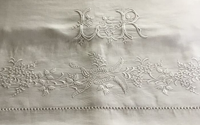 FRENCH VICTORIAN BEDLINEN - Cotton - Early 20th century
