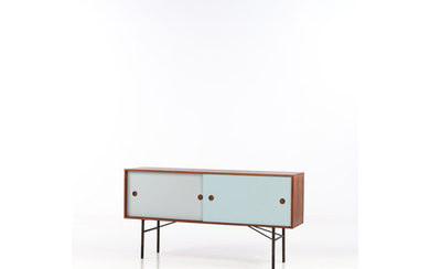 Finn Juhl (1912-1989) Sideboard Rosewood and painted wood Bovirke Edition Creation date: circa 1955-1956 H 81,5×L 157×P 40 cm
