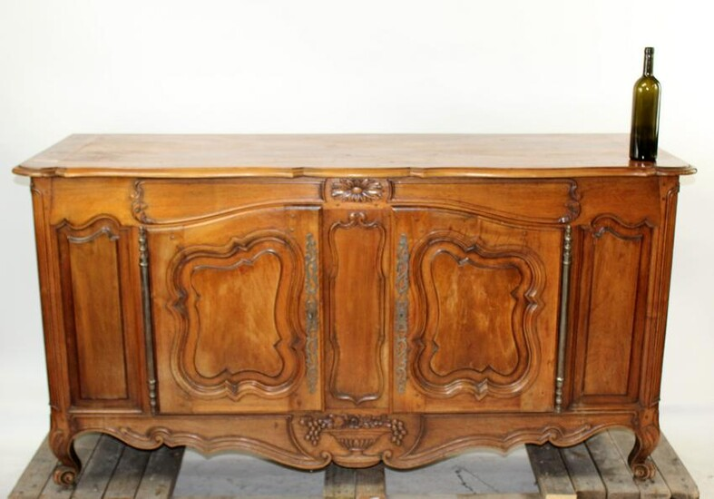 French Provincial enfilade in carved walnut
