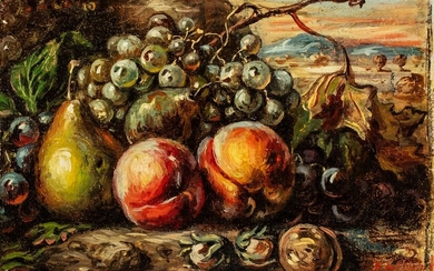 Giorgio de Chirico (Volos 1888 - Roma 1978), Still life with fruits, 1952