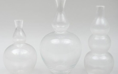 Group of Three Kagami Glass Vases