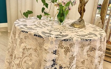 Hand embroidered Burano lace tablecloth - Burano