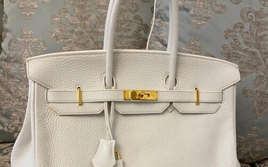 Hermès - Birkin 35 Togo gold plated metal Handbag