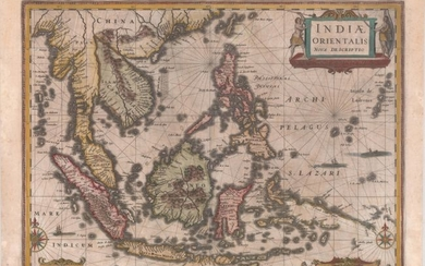 "Includes Discoveries Made by the Dutch ""Duyfken"" Exploration, ""Indiae Orientalis Nova Descriptio"", Jansson, Jan"