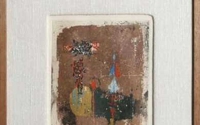 Johnny Friedlaender, Circus, Etching with Chine Colle