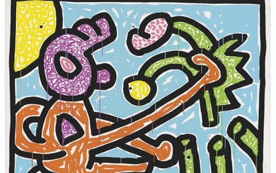 KEITH HARING (1958-1990), Plate One, from: Flowers 1-5