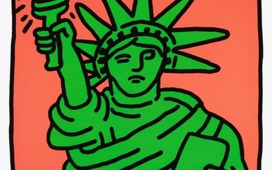 KEITH HARING | STATUE OF LIBERTY (L. P. 63)