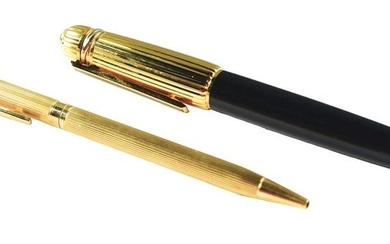 LOT OF 2: PENS, CARTIER AND GOLD.