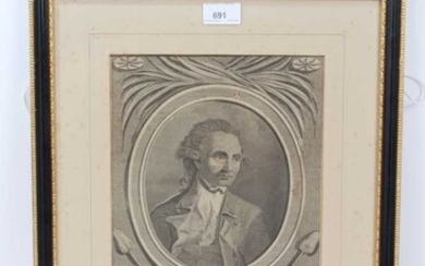 Late 18th century engraving of Captain Cook