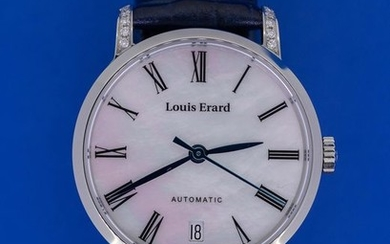 Louis Erard - Diamond Automatic Watch Excellence Collection- 68235CS04.BDC65 - Women - BRAND NEW