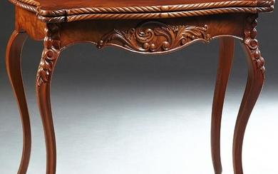 Louis XV Style Carved Mahogany Games Table, 20th c.