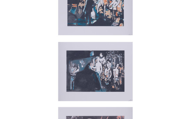 Luc Tuymans (born 1958) Allo ! - 2012 Set of 3 color silkscreens on BFK Rives watermarked paper, full margins Signed and numbe...