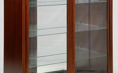 Mahogany Display Cabinet with Mirrored Back