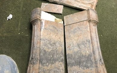 Marble fire surround with fluted columns 135w x 39d x 110h c...