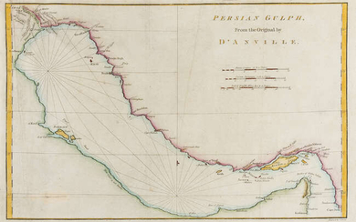 Middle East.- Red Sea.- d'Anville (Jean Baptiste Bourguignon) Persian Gulph From the Original by D'Anville, [c. 1775].