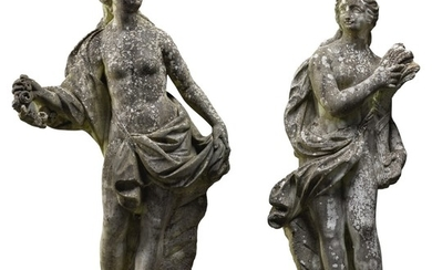 PAIR OF ALLEGORIES OF SPRING AND AUTUMN (FLORA AND CERES)