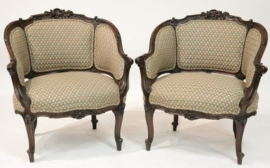 Pair French style Barrel Chair