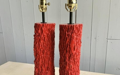 Pair Of Red Lamps