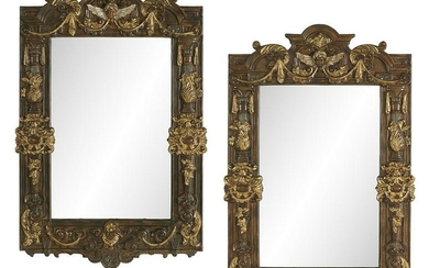 Pair of Molded Composition Mirrors