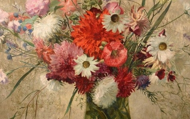 Eliot Hodgkin (1905-1897) ''Mixed Flowers and Scissors'' Signed and dated...