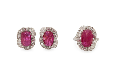 RUBY AND DIAMOND SET