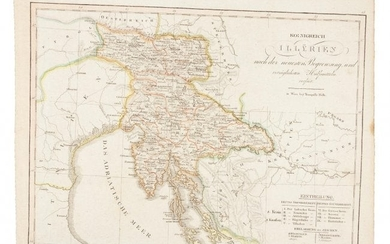 Rare map of parts of Croatia and Slovenia, 1810
