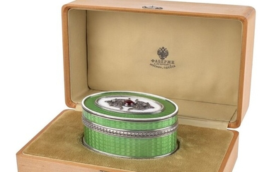 Russian Faberge Jeweled Enamel Box