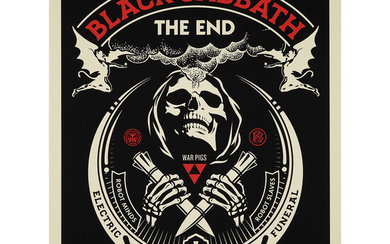 "SHEPARD FAIREY (né en 1970) BLACK SABBATH ""THE..."