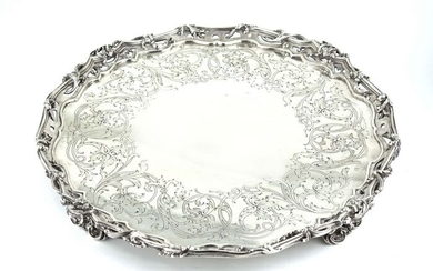 Salver - .925 silver - ( Hunt & Roskell ) Late Storr Mortimer & Hunt- U.K. - Mid 19th century