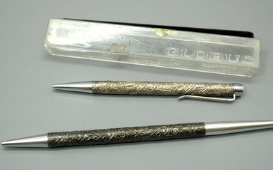Set of 2 Pens with Israeli Silver Coating made by Globus
