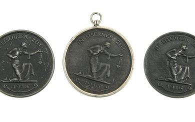 Set of 3 medals gold for a steel 1916