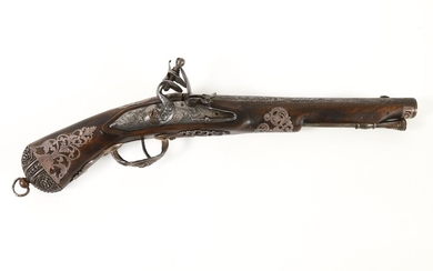 Silver Decorated Flintlock Pistol, 18th century DEC1