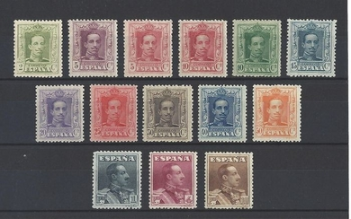 Spain 1922/1930 - Alfonso XIII, Vaquer type, complete set, well centred - Edifil 310/323