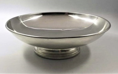 Sterling Silver Weighted Pedestal Base Bowl, Precision