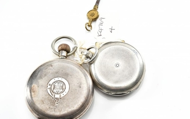 TWO POCKET WATCHES IN STERLING SILVER, A/F