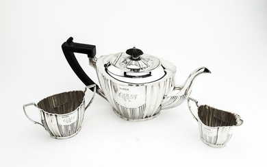 Tea service (3) - Silver - Lee & Wigfull - England - Late 19th century