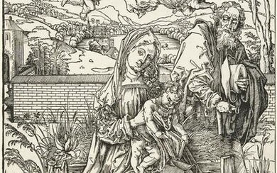 The holy family with the rabbit