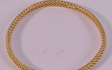 Tiffany & Co 18K Yellow Gold Mesh Bangle Bracelet