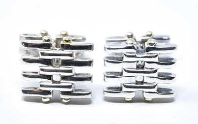 Tiffany & Co 18kt Gold & Sterling Silver Cuff Link