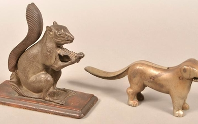 Two Cast Iron Animal Form Nutcrackers.