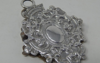 Victorian Silver Desk Clip with Good Strong Hinge Spring: Ha...