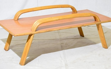 Vintage Paul Frankl / Tiki Style Bamboo Coffee Table