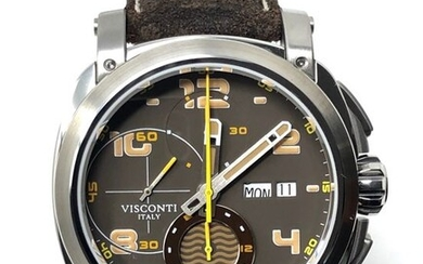 Visconti - Automatic Chronograph Watch Majorca Tobacco Limited Edition - KW30-21 - Men - BRAND NEW