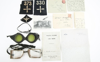 WWI BRITISH RAF RFC PATCHES LETTERS GOGGLES & MORE