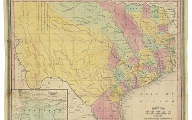 [YOUNG, JAMES HAMILTON] | Map of Texas from the Most Recent Authorities. Philadelphia: Published by C. S. Williams, 1845