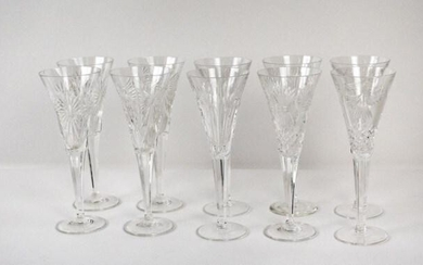 10 Waterford Cut Crystal Millennium Flutes