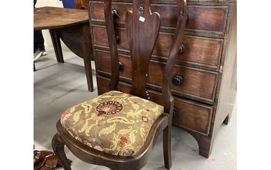 18th cent. Rosewood dining chairs, acanthus splat backs on b...
